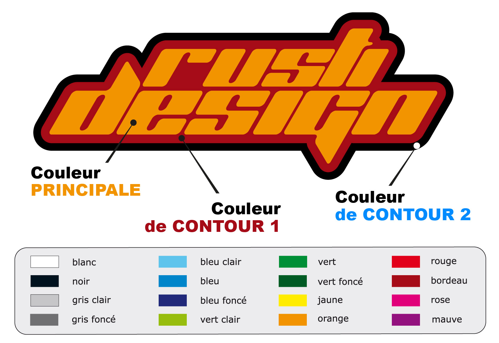 Exemple de couleurs